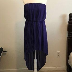 BCBG purple strapless dress