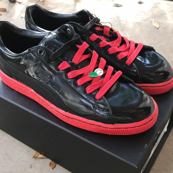 a000c3daaac Sale Puma x Meek Mill Patent Basket (Black Red) 10