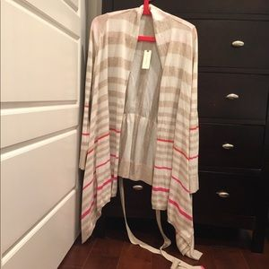 Anthro high-low striped cardigan