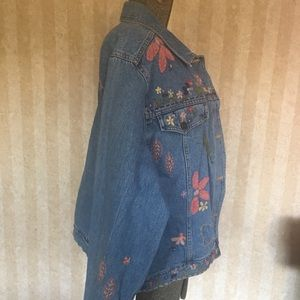 Susan Bristol Jackets & Coats - Funky embroidered and appliquéd denim jacket.