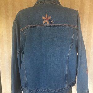 Susan Bristol Jackets & Coats - Funky Hand Embroidered and Appliquéd Denim Jacket.