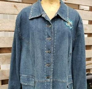 Susan Bristol denim jean jacket