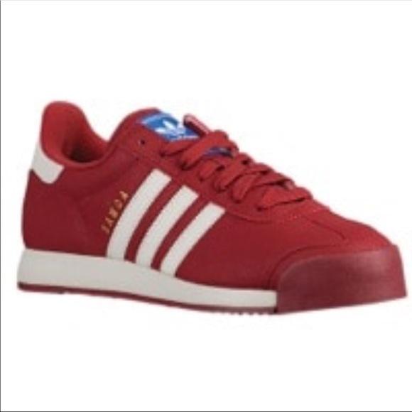 fd178fd195ee07 adidas Shoes - Red   White Adidas Samoa 🇼🇸