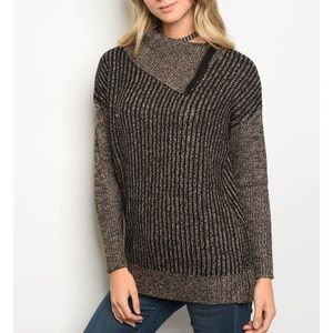| ZIPPER KNIT SWEATER |