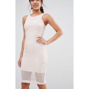 River Island Cornelli Lace Pencil Dress - Size 4