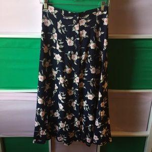 Vintage button down sag harbor floral skirt