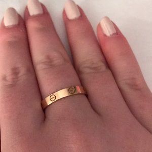 Cartier Love Wedding Band Rose Gold 96 Off