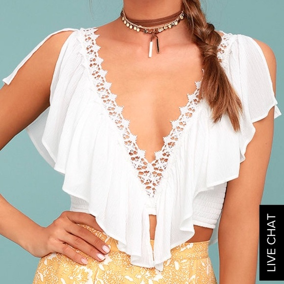 12b74ab1653bd3 Saturday in the park white crop top bachelorette