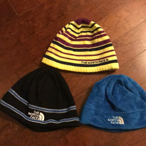 f762decad7e92 3 Youth small North Face winter hats. M 5a19e910ea3f3680d502c082