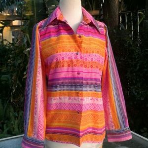 Tops - 70's vintage size small  colored long sleeve S