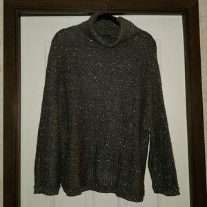 Diane Von Furstenberg Vintage Metallic Sweater 2X