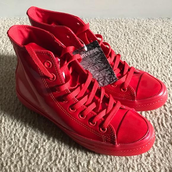 70d779e1462d Converse Chuck Taylors HI Casino Red Sneakers