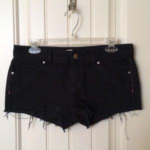 Victoria's Secret PINK Black Denim Shorts