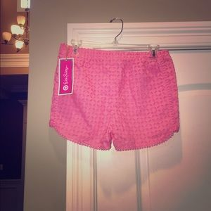 NWT Lilly Pulitzer for Target Lace Pink Shorts