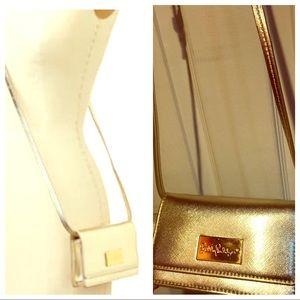 Euc lilly pulitzer gold crossbody bag purse
