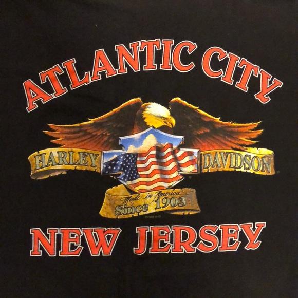 Harley Davidson Shirts Harley Davidson Atlantic City Nj Tee Size
