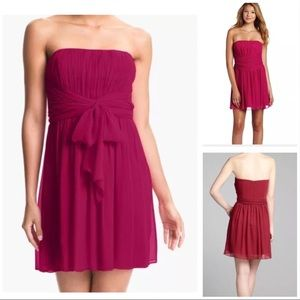 NWT Max and Cleo Red Strapless Party Dress