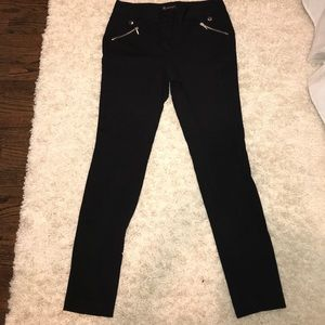 INC Stretch Black Moto Pant