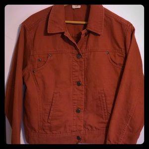 J.Jill Terracotta Brushed Denim Jacket Small