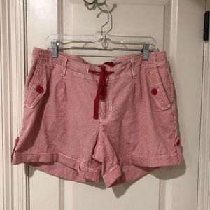 Liz Claiborne seersucker shorts