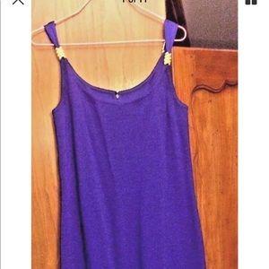 St John Knit Evening Purple Gold Dress 10
