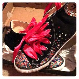 CUSTOM Girl High Top Converse