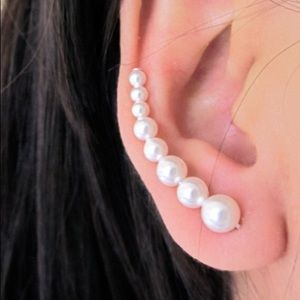 (2/$18) Pearl Crawler Post Earrings