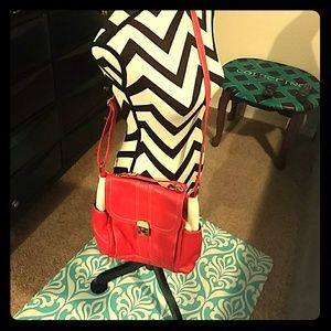 Red and White Elle Purse