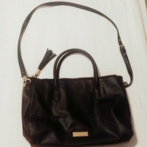 Olivia + Joy black satchel bag