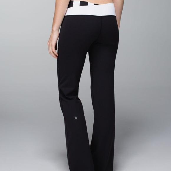 8965644809 lululemon athletica Pants - Lululemon Astro pants black/ straight up stripe  10