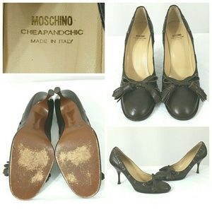 Moschino Shoes - MOSCHINO Cheap and Chic Brown Leather Heels Shoes