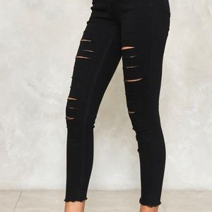 slash into view cropped jeans