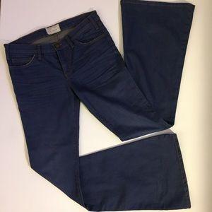 Current Elliott Hippy bell bottom flare blue jeans