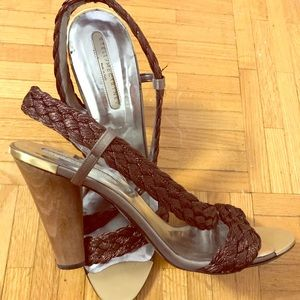 Stella McCartney Metallic Braided heeled sandal