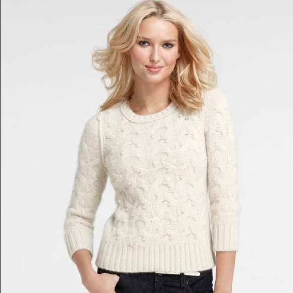 Ann Taylor Snow Pearl Sweater