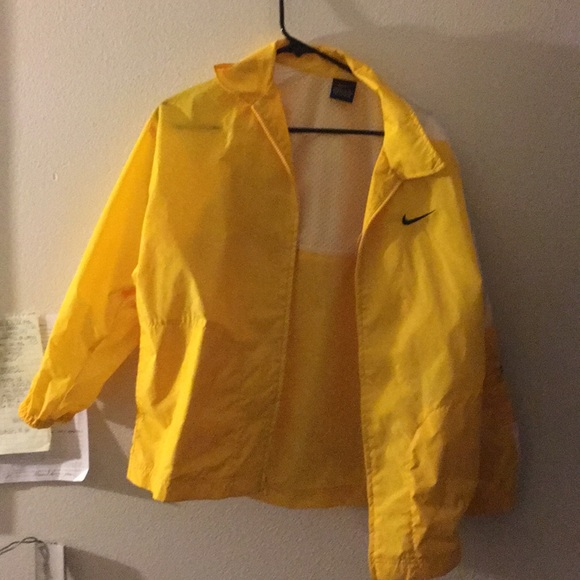 nike yellow coat