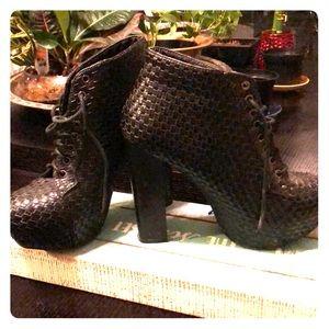 Vintage Black Platform Boots