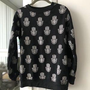 Hamsa print sweatshirt, S