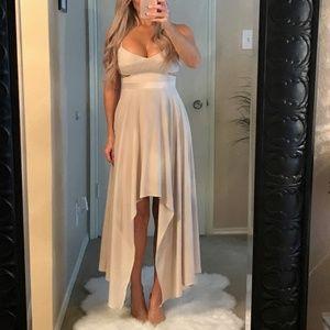Gorgeous Cream Asymmetrical Dress with Cutouts