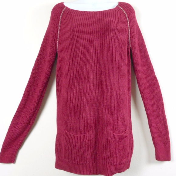 51% off LOFT Sweaters - Ann Taylor LOFT Maroon Red Tunic SWEATER ...