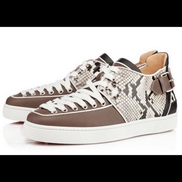 best cheap e26bd 09c46 Christian Louboutin Terrence Men's Python Sneakers