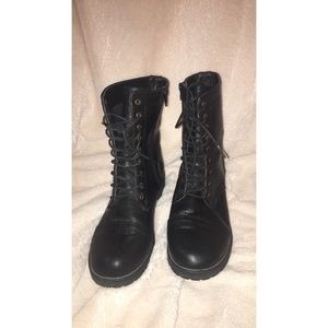 Shoes - Cute combat boots moto boots