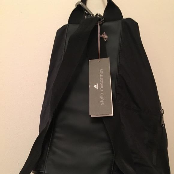 6bec8555bde9 Black Stella McCartney Adidas gym bag   back pack