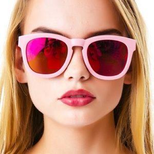 Wildfox Pink Sun Classic Fox Mirror Sunglasses