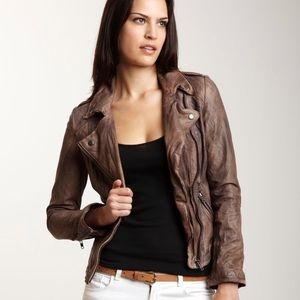 "Muuba ""Athena"" leather jacket sz US 6/UK10/EU38"