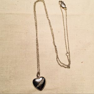 Jewelry - ❤️Diamond and silver necklace