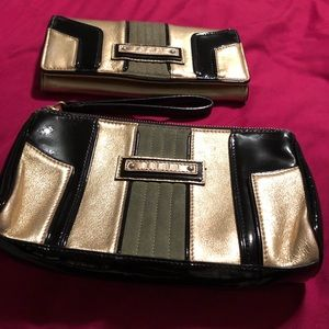 L.A.M.B. Rare Art Deco looking wallet and wristlet