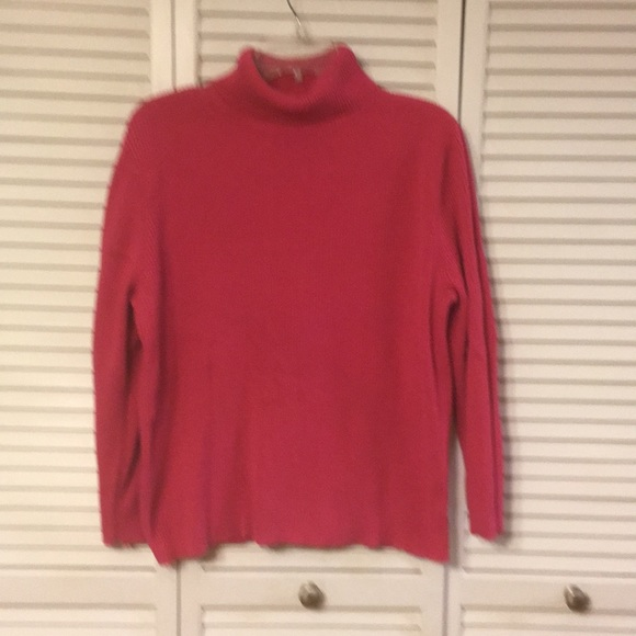 55% off Faded Glory Sweaters - Hot Pink Ribbed Knit Turtleneck ...
