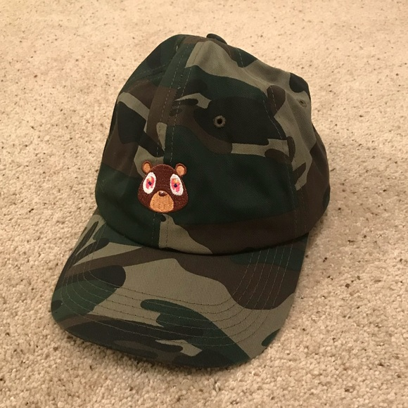 Kanye West Yeezus Dropout Bear Camo Hat. M 5a1a1791bf6df51c6703aa00 9a557f50661
