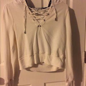 American rag crop hoodie !